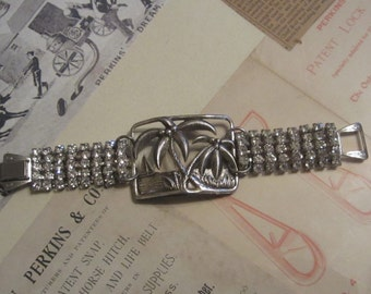 Assemblage Bracelet Sterling Silver Repurposed Recycled Upcycled Jewelry Art Deco Bracelet