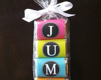 JUMP Mini Candy Wrappers Printable - Instant Download - Jump Love Collection