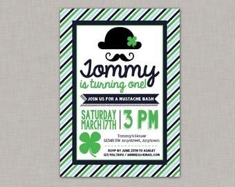 St. Patrick's Day Birthday Invitation, Leprechaun Birthday Invitation, Printable