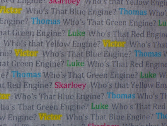 Thomas The Train Fabric Who S That Engine Thomas And