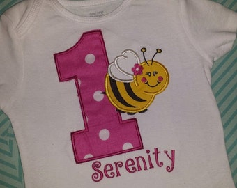 Bumble bee Birthday Shirt