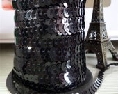 Black Sequin Trim-6mm-3 YDS
