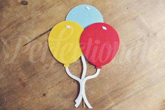 Felt Balloon Bundle Photo Prop, Birthday, Wedding Photo Booth Prop, Red Balloon, Blue Balloon, Yellow Balloon, Carnival Prop, Circus Prop