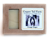 Organic Orange Ginger Goat Milk Soap