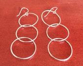 Hoops Galore - sterling silver hoop earrings