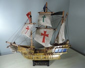 Natucial Home Decor, Model Ship, Santa Maria, Souvenir Ship, Home Decor, Man Gift, Man Cave Decor
