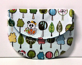 Sunny Trails Panda Pacifier Pouch, Pacifier Pouch, Pacifier Holder, Coin Purse, Small Wallet, Card Holder, Small Wallet, Binky Pouch