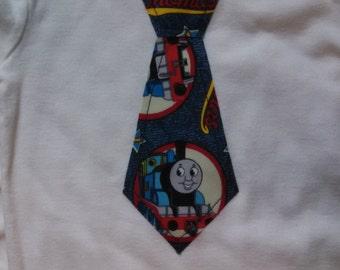 Thomas the Train Tie Long Sleeved Onesie
