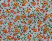 """Vintage Yellow Rose Floral Fabric - 5 yards (35"""" wide)"""