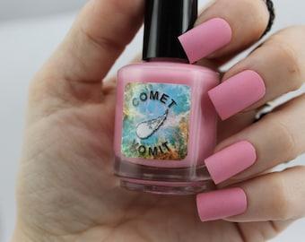 Strawberry Milky Way matte nail polish by Comet Vomit