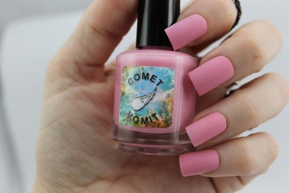 Strawberry Milky Way matte nail polish by Comet Vomit