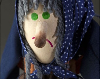 Hunchbacked Witch Puppet by Czech Marionettes