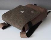 Rucksack Messenger Bag with Harris Tweed option