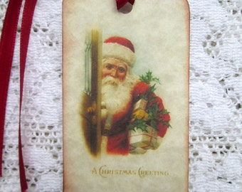 Santa Christmas Tags Vintage Image (12)