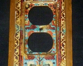 Light switch plate, Moroccan inspired