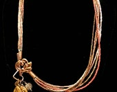 Convertible Necklace and Anklet in Golds Coppers and Antique Coppers