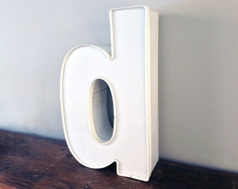 Reclaimed vintage letter - d - large