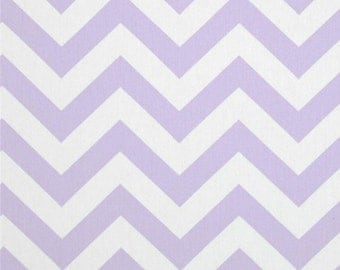 Chevron Suede - Lavender and White - Micro Suede - by the yard