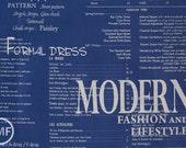 Suzuko Koseki Fashion Magazine Large Text in Royal Blue, Yuwa Fabric, SZ816914G, 100% Cotton Japanese Fabric