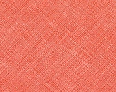 Architextures Crosshatch in Poppy, Carolyn Friedlander, Robert Kaufman Fabrics, 100% Cotton Fabric, AFR-13503-302 POPPY