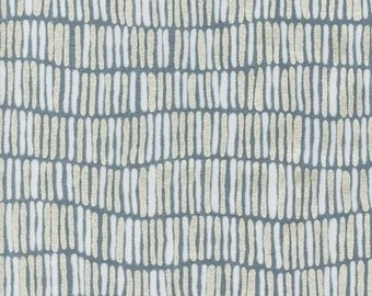 LAST PIECE Shimmer Stripe in Steel Metallic, Jennifer Sampou for Robert Kaufman Fabrics, 100% Cotton Fabric, AJSP-14252-185 Steel