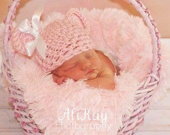 PDF CROCHET PATTERN Crochet Bear Hat, Baby Bear Hat, Bear Beanie, Bear Hat, Animal Hat, Baby Girl Hat, Newborn Baby Hat,Crochet Baby Hat