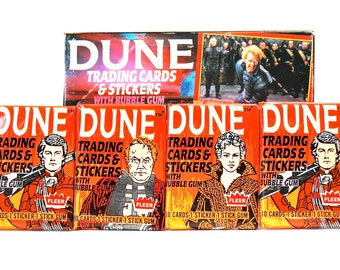 4 Dune Trading Card Packs by Fleer 1984