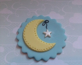 Wish Upon a Star Edible Cupcake Topper - Set of 12