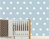 Polka dot vinyl decals | Silver polka dot wall decal | Polka dot stickers for wall | Polka dot decal | Polka dot decor | Vinyl dots