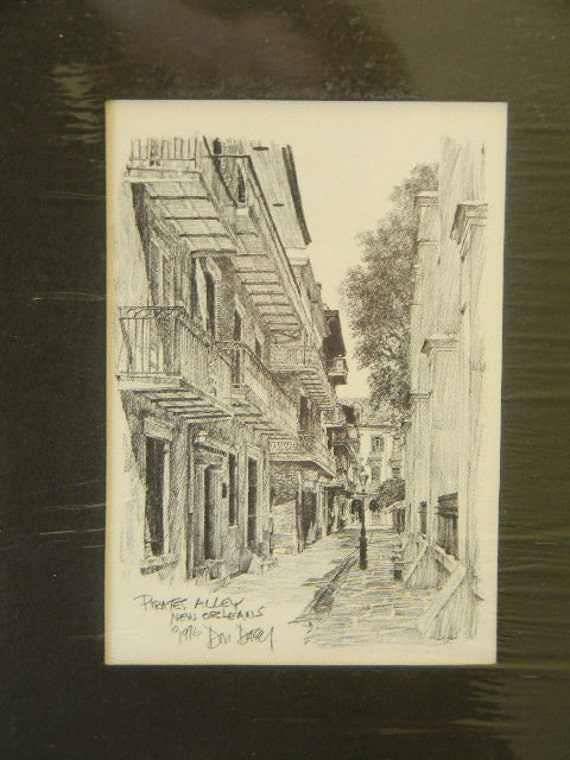 PIRATES ALLEY New Orleans by Artist Don Davey
