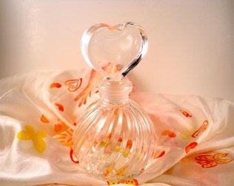 Perfume Holder and Wand Crystal Bottle Teleflora Japan 80s