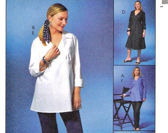 Plus Size Empire Maternity Blouse Pattern McCalls 4315 (Misses sizes 16-18-20-22)