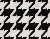 Coordinated Fabrics for Home Furnishings - Houndstooth Fabric - DutyFreeCanada- Color:  Caviar - Per yard
