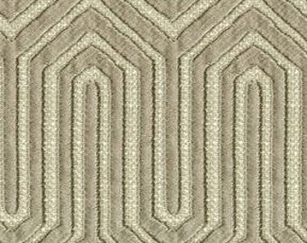 Elegant  Woven Drapery Fabric - Soft Beautiful Drape  -  Contemporary Geometric - Duty Free Canada - Color: Beige  - per yard