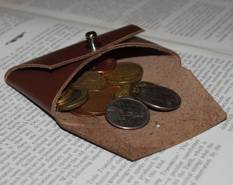 Coin Purse, Leather Coin Purse, Brown Leather Coin Purse, harder leather