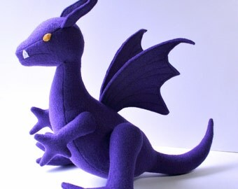 Lockheed the Dragon Fantasy Plush ~ Purple Dragon, Kitty Pryde, Marvel Comics, Shadowcat, Costume Accessory, X-Men, Comicon, Fantasy