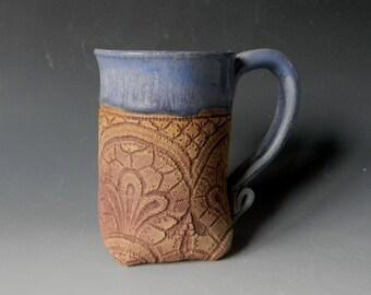 Lace Impressed 16oz Ceramic Mug