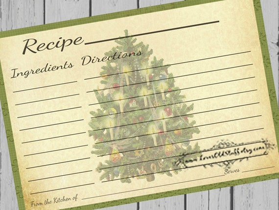 printable christmas recipe cards 4x6 blank recipe cards. Black Bedroom Furniture Sets. Home Design Ideas