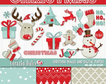 CHRISTMAS Clip art - Personal and Commercial Use Clip Art= INSTANT DOWNLOAD