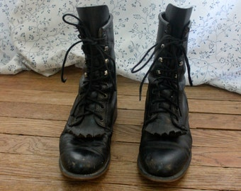 Grunge Leather Boots
