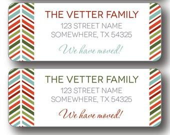 Christmas Return Address Labels - We Have Moved