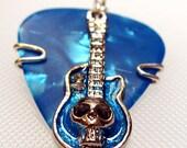 Skull Guitar Pick Pendant
