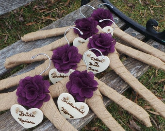 Personalized Bridal Dress Hangers, Bride Decorated Hanger, 6