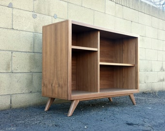 Mid century modern bookcase, display cabinet