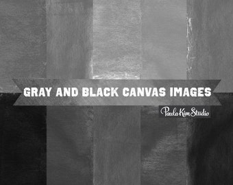 80% OFF SALE Black Canvas Digital Paper - Burlap Texture Background Images Gray Black Grey