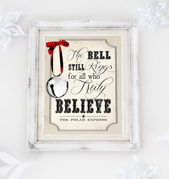 Polar Express Believe Poster - INSTANT DOWNLOAD - Printable Christmas ...