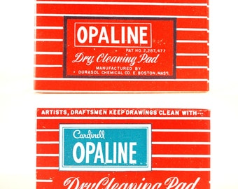 Vintage Opaline Dry Cleaning Pad for Artists and Draftsmen (c.1960s) - Dirt Eraser for Artists,  Retro Typography, Vintage Office Supply