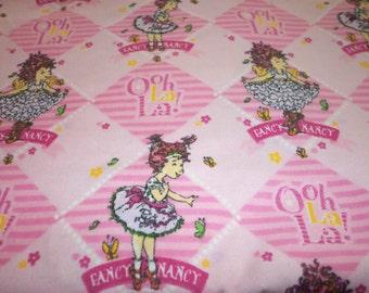 Fancy Nancy Fabric Oh La La Pink Cute Little Girls Love Fancy Nancy Fat Quarter BTFQ
