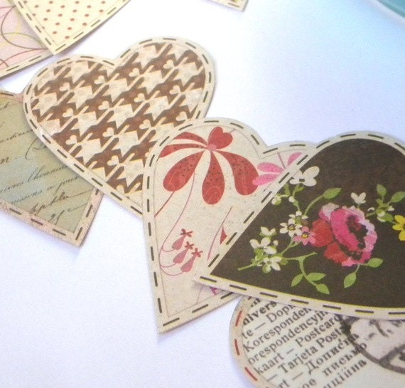 Basket Weaving Supplies Raleigh Nc : Paper heart embellishments printed hearts