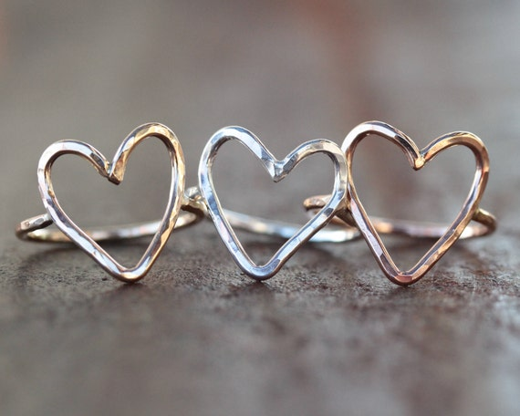 Heart Ring / Love Jewelry / Simple Ring / Simple / Love Ring